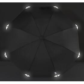 EuroSchirm teleScope handsfree Regenschirm Schwarz/Reflective